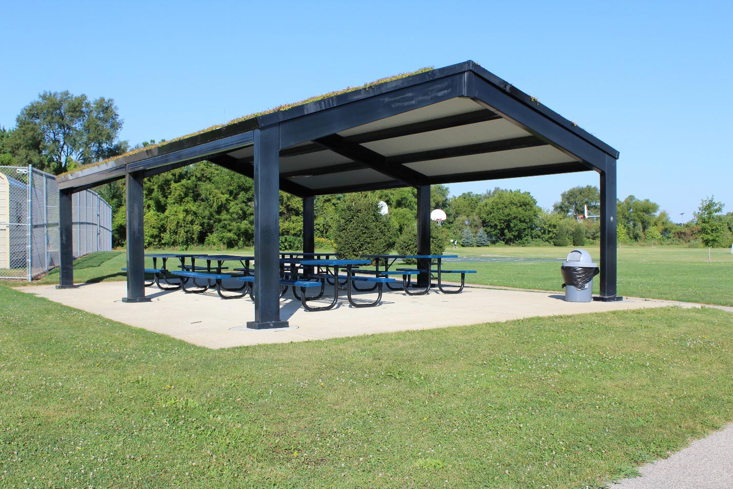 Chamberlain Park Picnic Shelter with Live Roof Shelter Located behind the Pool
