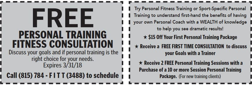 Personal Training Coupon - Click to Print Out